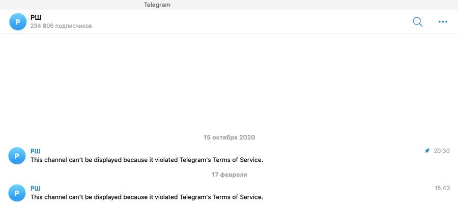 Скриншот © Телеграм-канал РШ