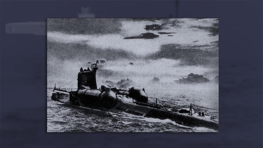 """Подводная лодка проекта """"644"""" в море. Фото © rigapodplav.narod.ru"""