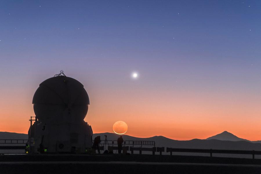 Вид на Венеру с Земли. Фото © Wikimedia Commons / P. Horálek / ESO