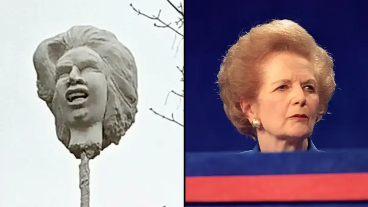 "<p>Фото © <a href=""https://www.ladbible.com/news/news-statue-of-margaret-thatchers-head-on-spike-erected-in-her-home-town-20210222"" target=""_blank"" rel=""noopener noreferrer"">Lad Bible</a></p>"