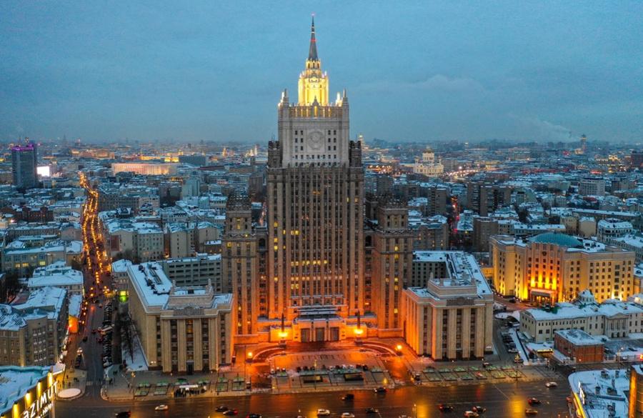<p>Здание Министерства иностранных дел РФ. Фото © ТАСС / Валерий Шарифулин</p>