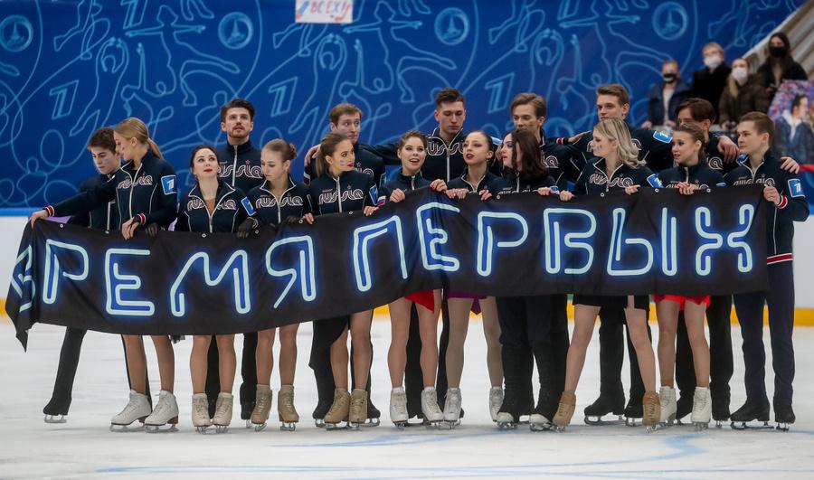 """""""Время первых"""" Медведевой. Фото © ТАСС / Сергей Савостьянов"""