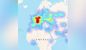 Карта сбоев в работе WhatsApp. Скриншот © Downdetector