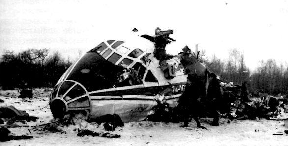 Ту-104Б после катастрофы во Внуково 17 марта 1979 г. Фото © aviadejavu.ru