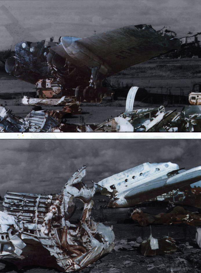 Обломки Ту-104. Фото © aviadejavu.ru