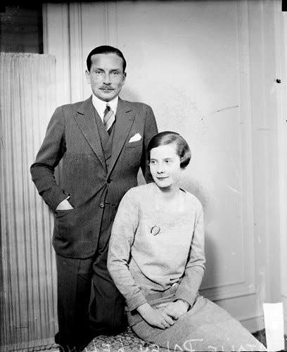 Наталья Палей с первым мужем Люсьеном Лелонгом.  Фото © Wikipedia