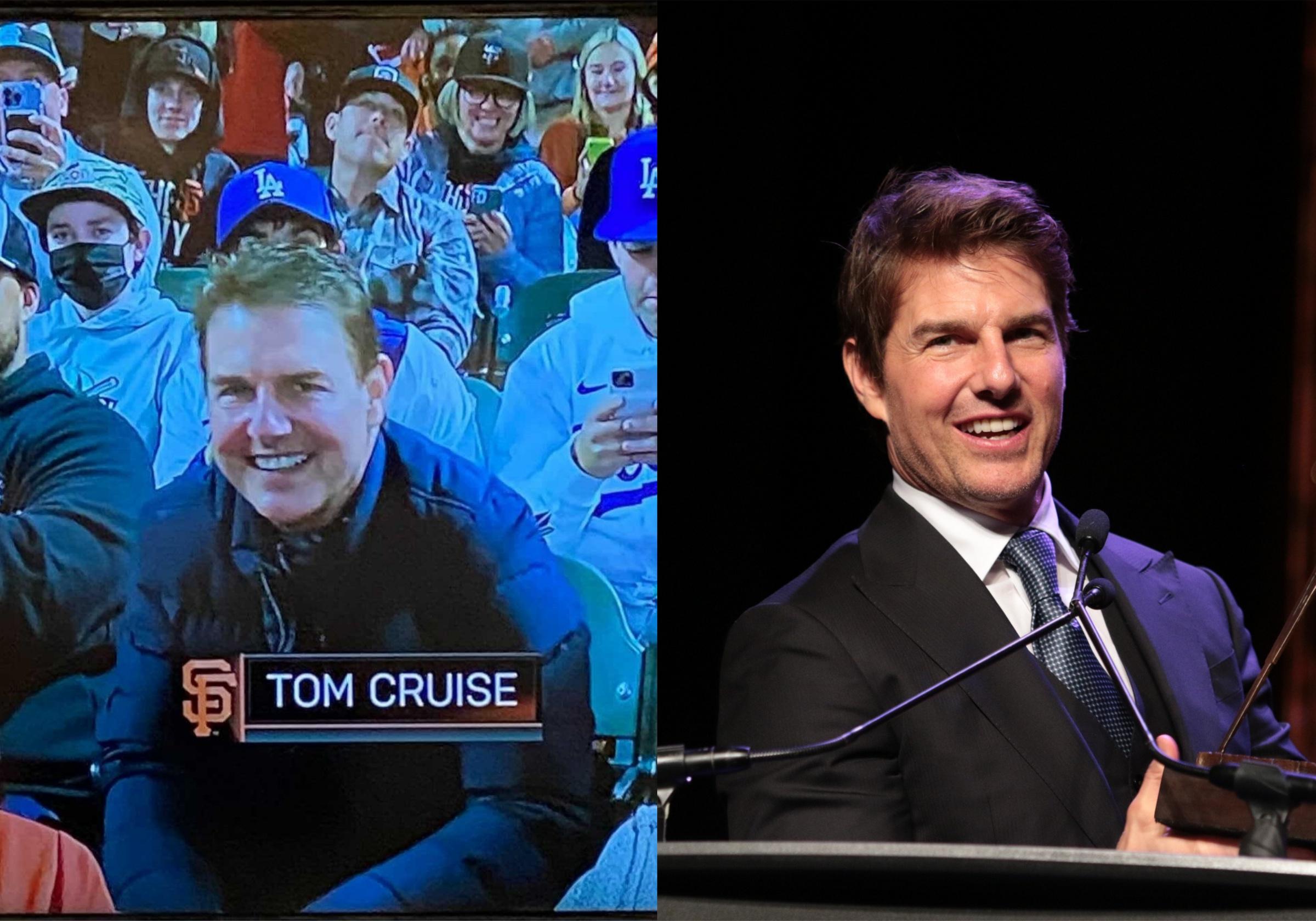 Фото © Twitter / SF Giants on NBCS и Tom Cruise