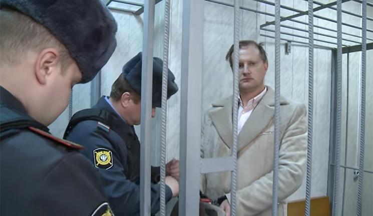 Февраль 2012 года, Москва. Алексей Душутин во время слушания своего дела в российском суде. Фото ©youtube.com/dddushnii