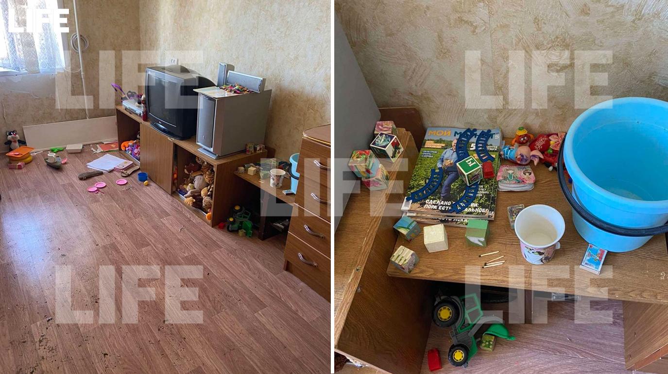 Комната, в которой играли выпавшие из окна девочки в Сызрани / Спички, с которыми, предположительно, играли дети. Фото © LIFE