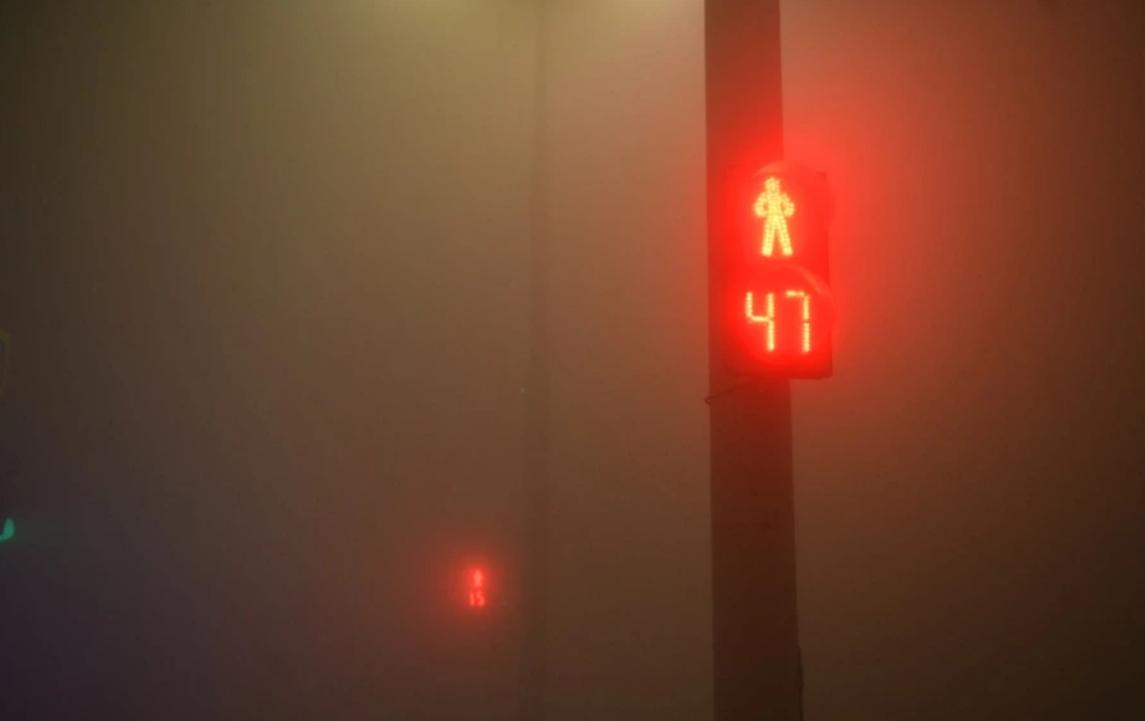 Часть Екатеринбурга погрузилась во мглу и стала похожа на Сайлент Хилл. Фото © Е1