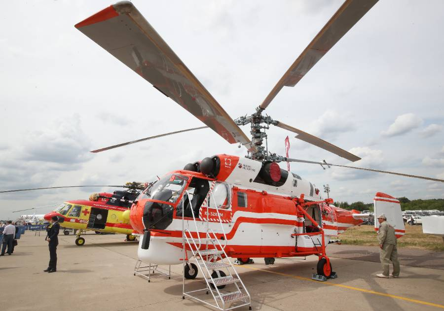 <p>Модернизированная версия вертолёта Ка-32А11М. Фото © ТАСС / Сергей Карпухин</p>
