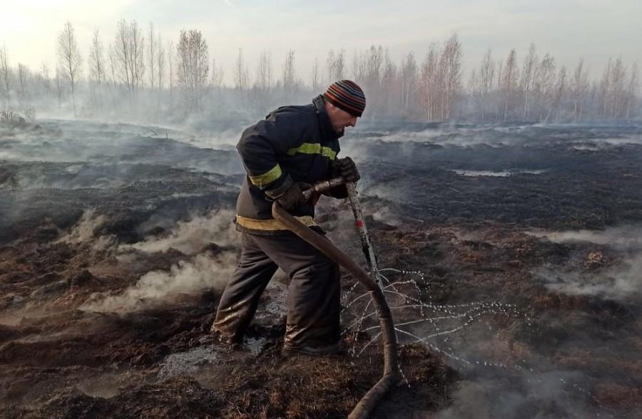 В одном из районов Екатеринбурга ввели режим ЧС из-за горящего торфяника