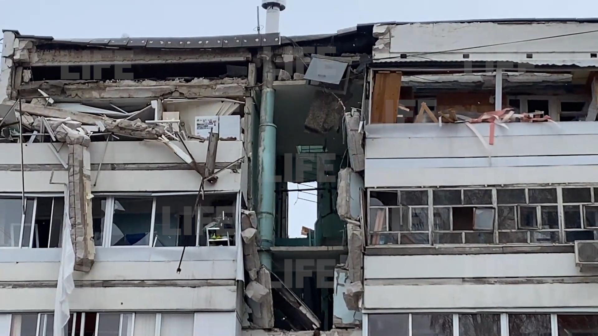 Дыра вместо квартир: Появилось видео с последствиями взрыва в жилом доме в Набережных Челнах