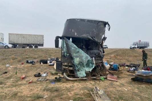 В Калмыкии в столкнувшемся с КамАЗом автобусе не работали ремни безопасности
