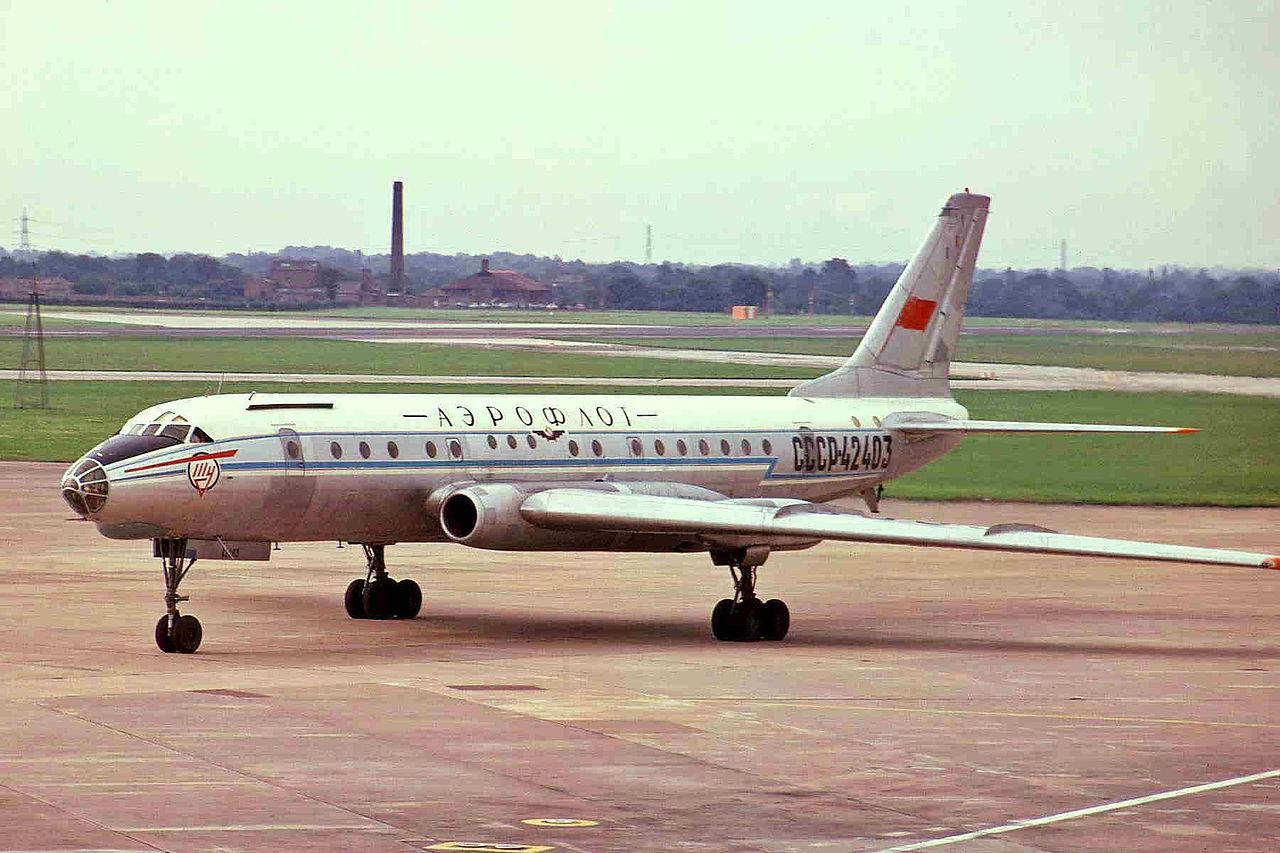 """Ту-104Б компании """"Аэрофлот"""", аналогичный разбившемуся. Фото ©Wikipedia"""