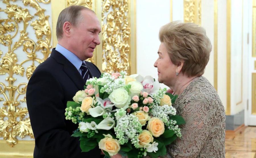 <p>Президент РФ Владимир Путин и Наина Ельцина. Фото © Kremlin</p>