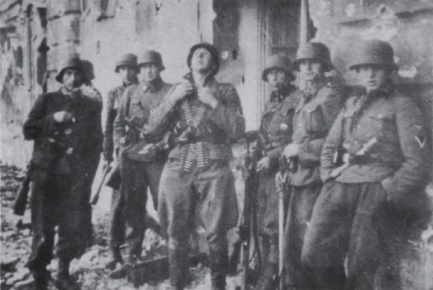 Латышские легионеры СС в Новгородской области. Фото © lv.wikipedia