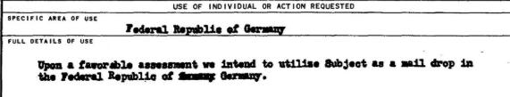 """""""При благоприятном стечении обстоятельств мы намереваемся использовать субъекта в качестве посредника (дропа) в Германии""""."""