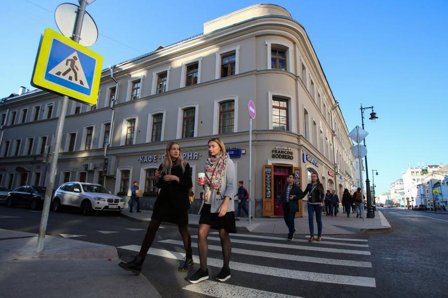 <p>Печатников переулок в центре Москвы. Фото © ТАСС / Владимир Гердо</p>