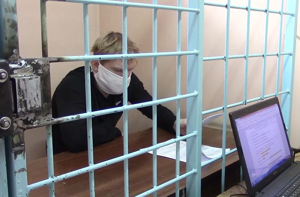 Вячеслав Вишневский на суде. Фото © ТАСС / Следственный комитет РФ