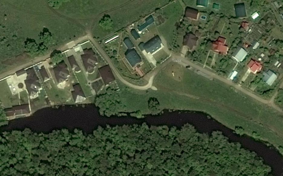 """Вид на деревню Фёдоровка, где семья Моргенштерна имеет домик . © """"Яндекс.Карты"""""""