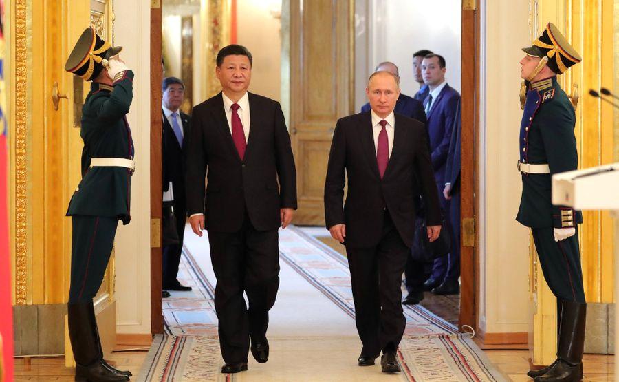 <p>Президент России Владимир Путин и председатель КНР Си Цзиньпин. Фото © Kremlin</p>