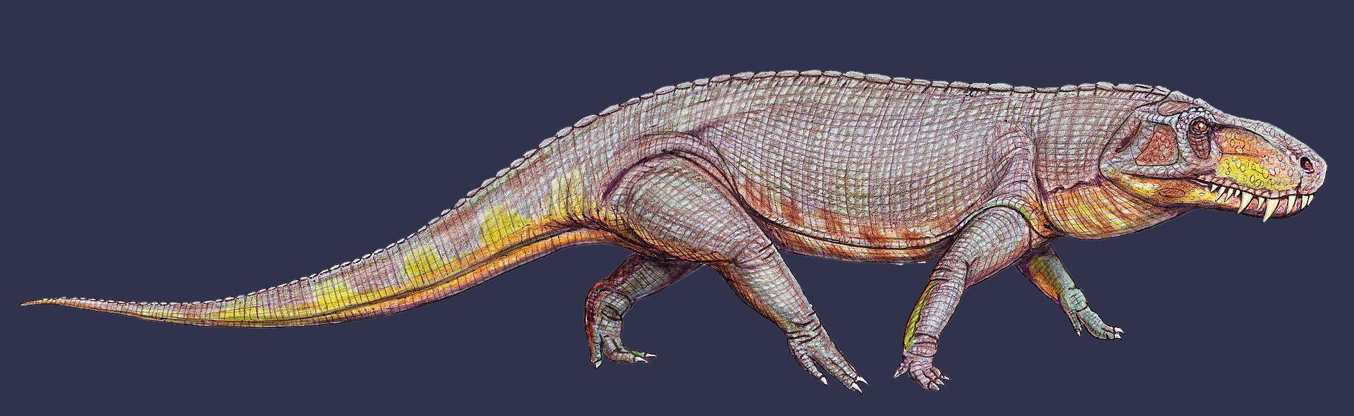 Реконструкция древнего животного Prestosuchus chiniquensis. Фото © Wikipedia