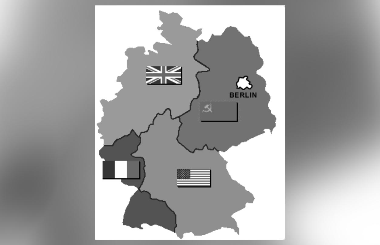 Четыре зоны оккупации в послевоенной Германии. Фото © Wikipedia
