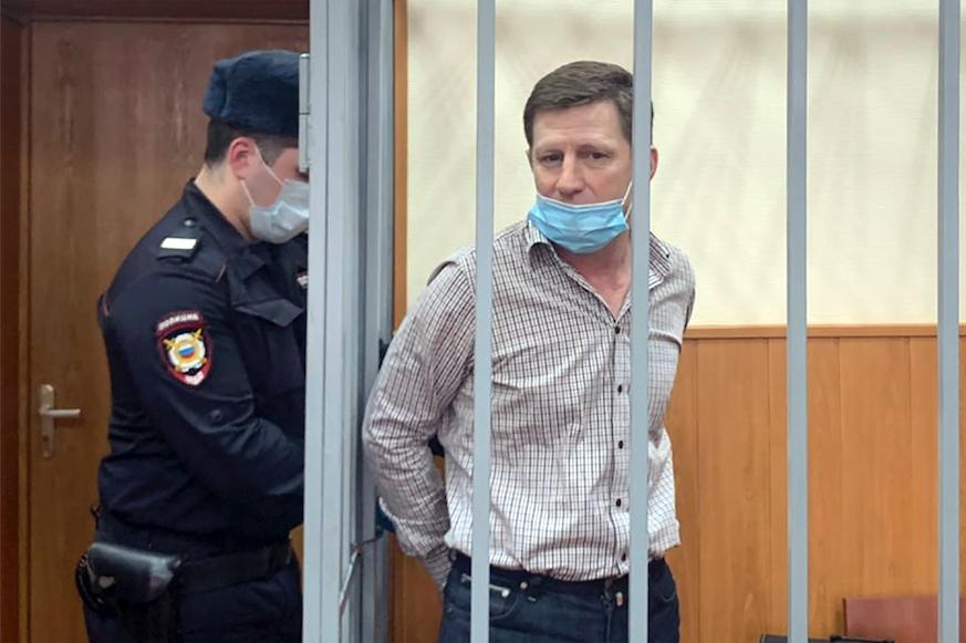 Экс-губернатору Хабаровского края Фургалу продлили арест до 8 июня