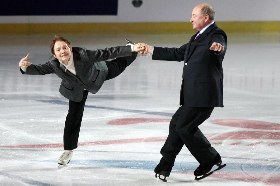 <p>Тренеры Тамара Москвина и Алексей Мишин. Фото © ИТАР-ТАСС / Вадим Жернов</p>