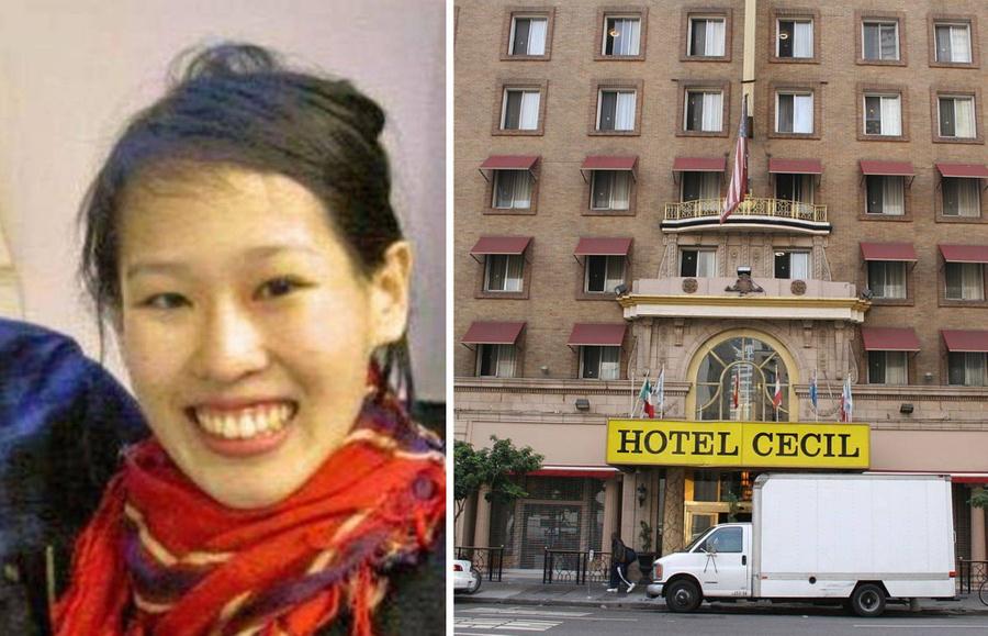 Элиза и тот самый отель. Фото © LAPD / Flickr / jimwinstead