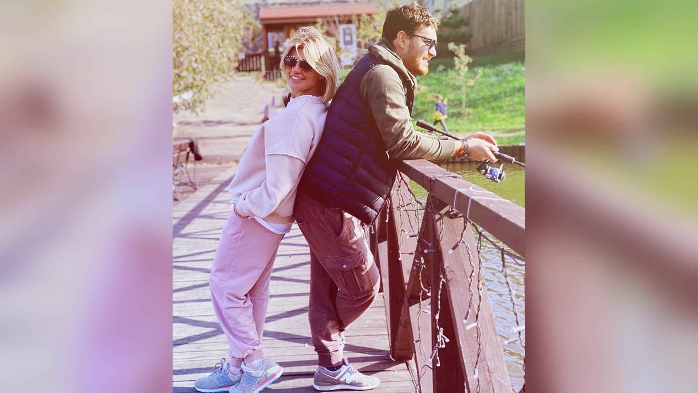 Анна Шерлинг с супругом. Фото © Instagram / annasher_official