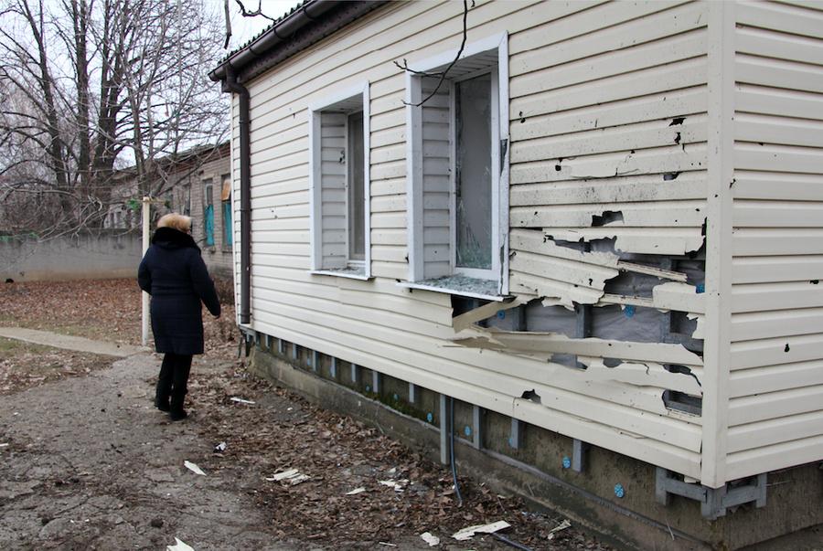 <p>Посёлок Еленовка, Донбасс. Фото © Валентин Спринчак / ТАСС</p>