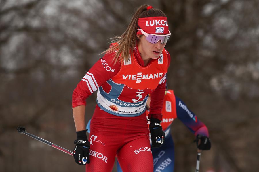 <p>Лыжница Яна Кирпиченко. Фото © ТАСС / Сергей Бобылев</p>