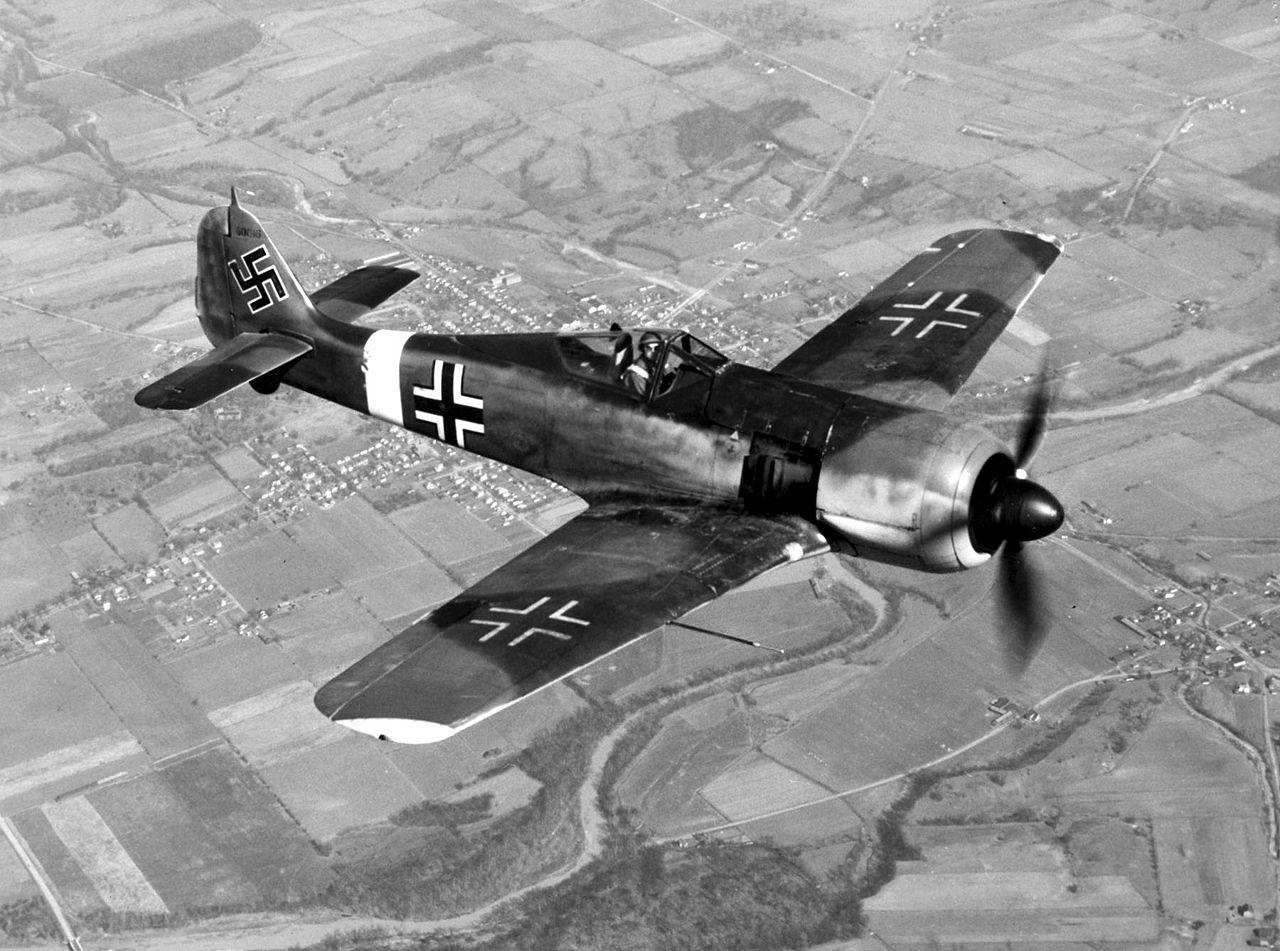 Focke-Wulf Fw 190 Würger. Фото © Wikipedia