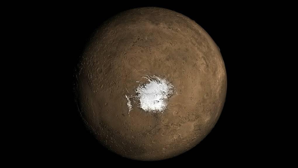 Южная полярная шапка Марса. Фото © NASA