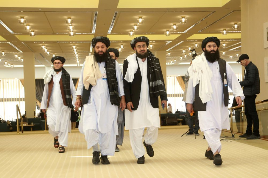 "<p>Представители движения ""Талибан"". Фото © ТАСС / AP Photo / Hussein Sayed</p>"