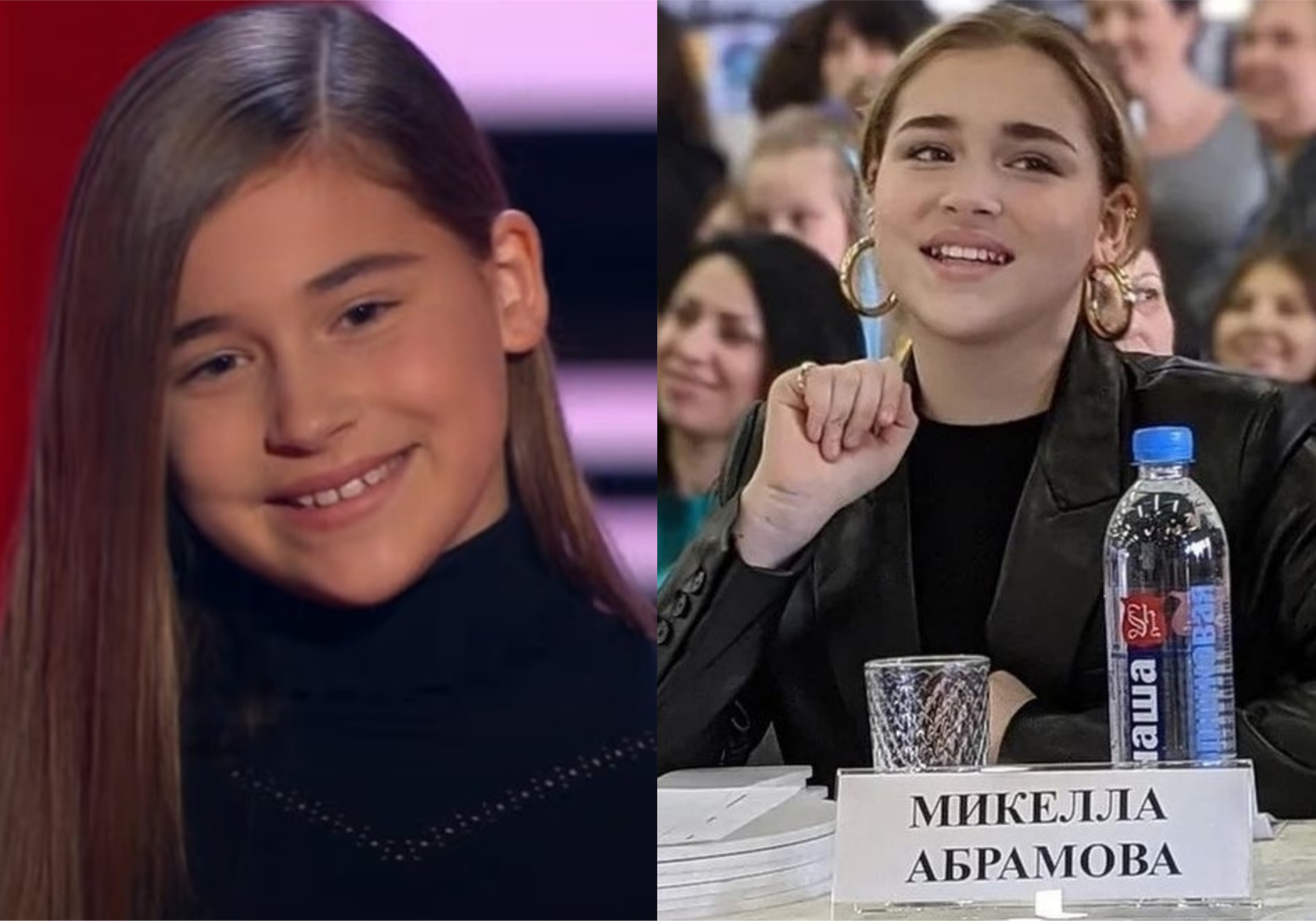 "Фото © YouTube / The Voice Kids Russia / ""Голос. Дети"" и Instagram / mikellaabramova"