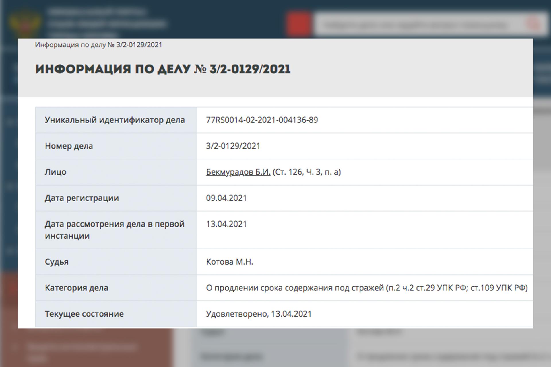 © Официальный портал судов общей юрисдикции города Москвы