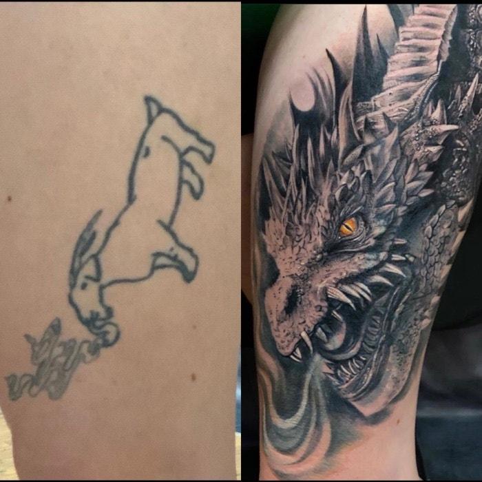 Эти тату стали ошибками молодости, но сейчас выглядят как произведения искусства: фото до и после