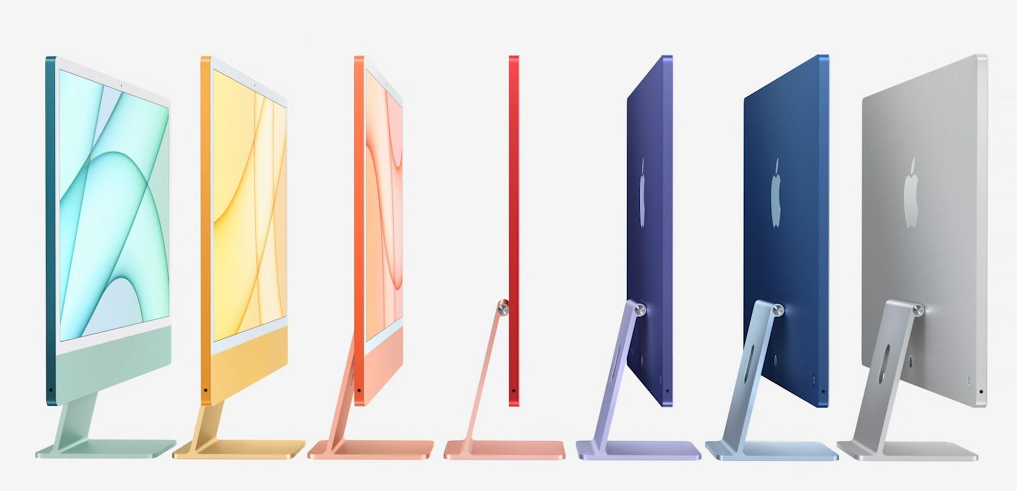Новые iMac 2021. Фото © Apple