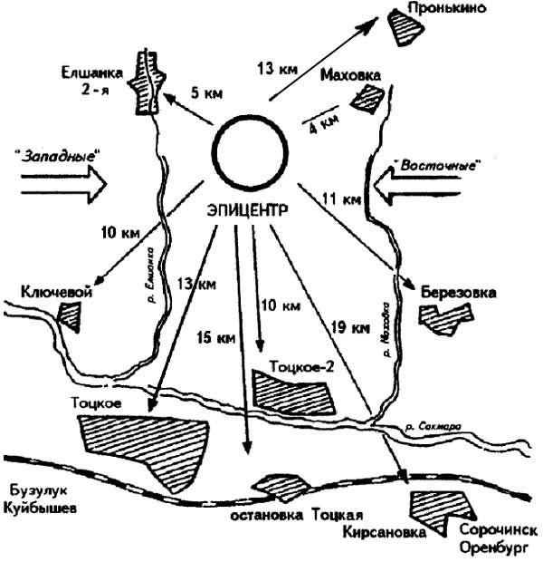 Схема местности Тоцкого полигона. Фото © Оренбургская политика