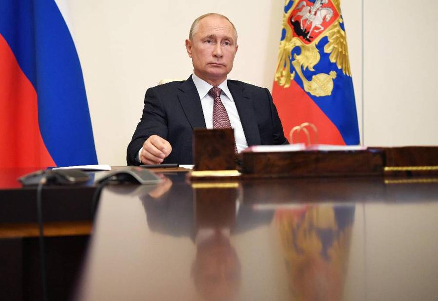 <p>Владимир Путин. Фото © ТАСС / Алексей Никольский / Пресс-служба Президента РФ</p>