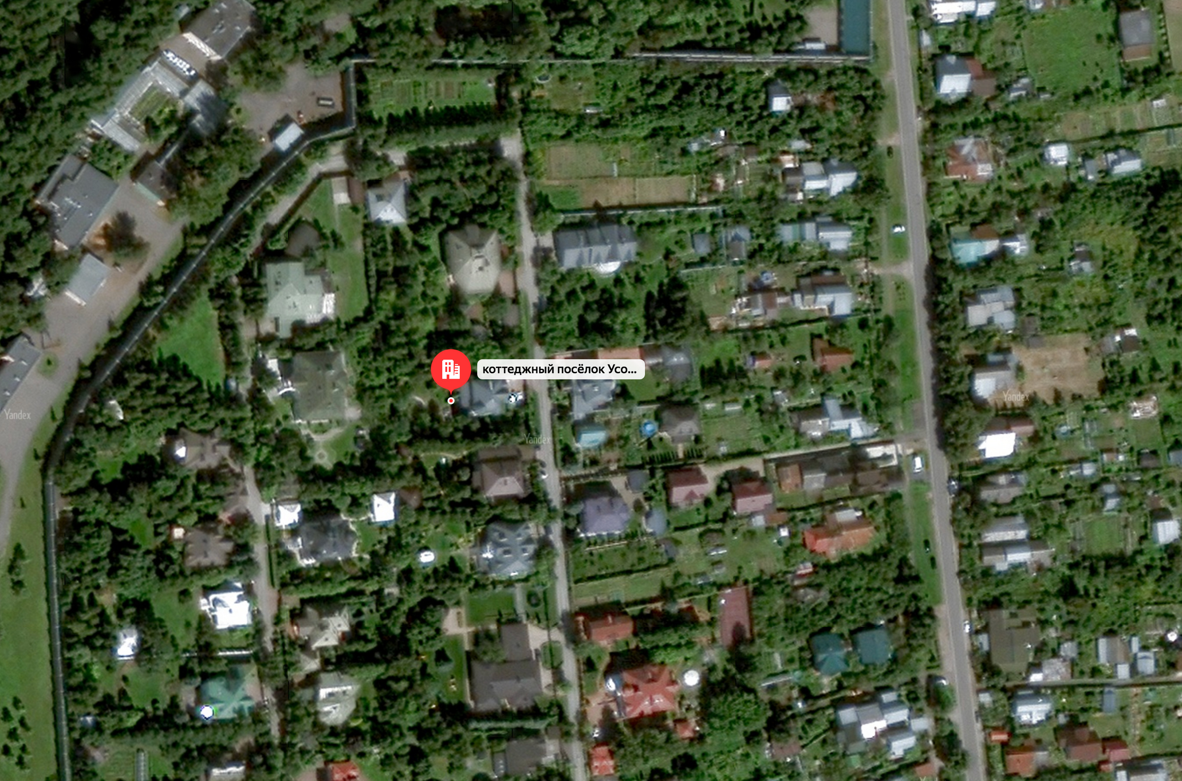 Дмитрий Голубков владеет коттеджем и 12 сотками в Барвихинском районе Подмосковья. Фото © Яндекс.Карты