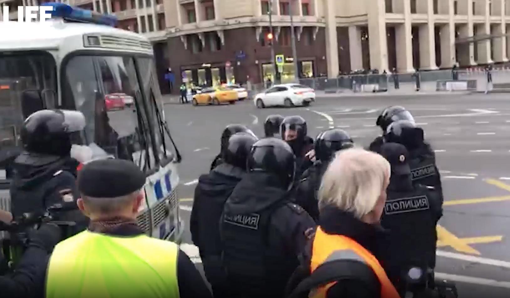 В центре Москвы на незаконной акции задержано несколько человек