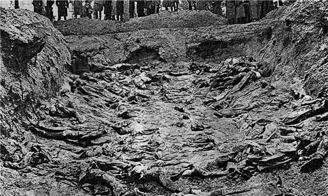 Раскопанная могила. Фото © Wikipedia