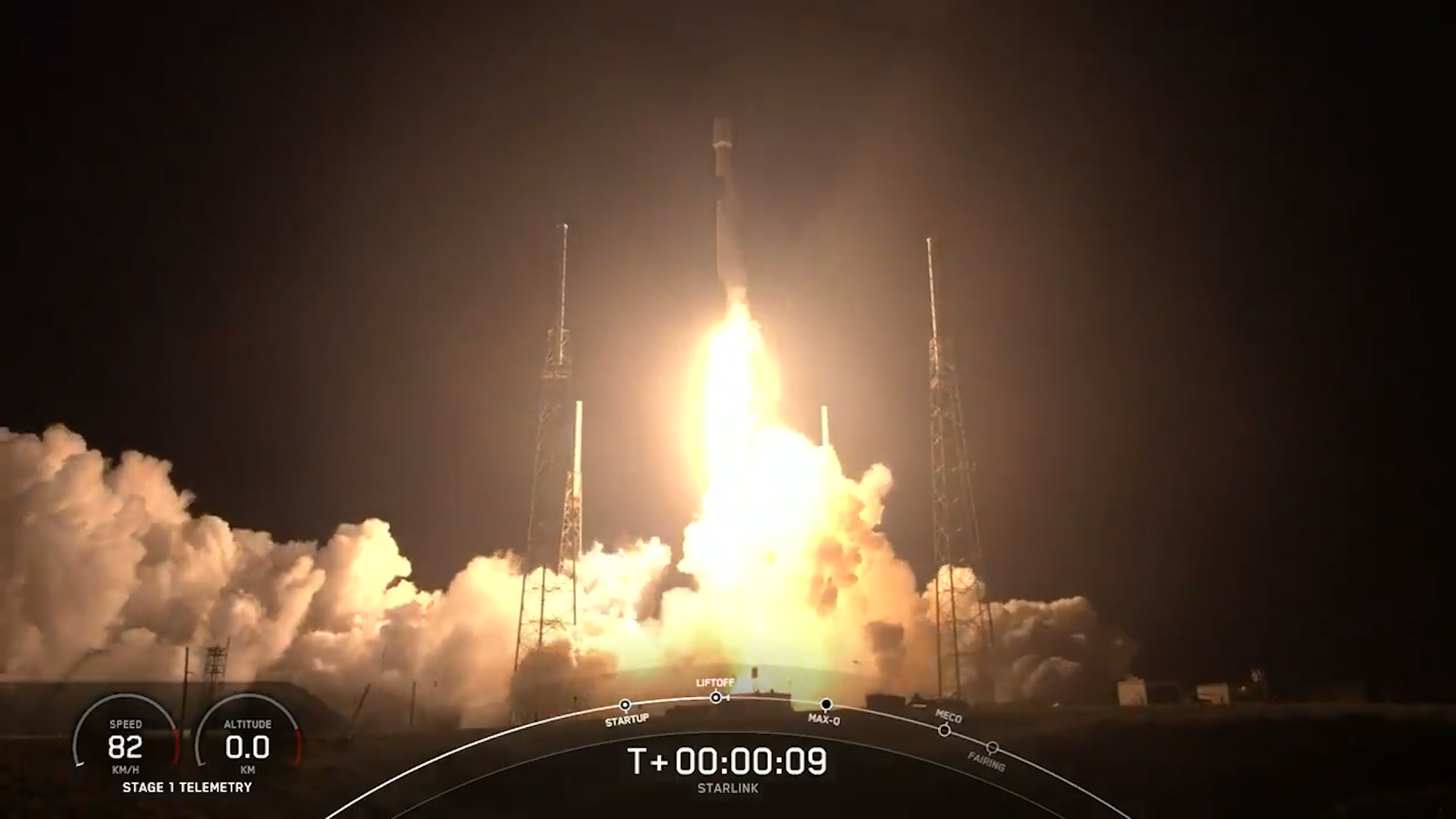 SpaceX запустила на орбиту большую партию спутников Starlink