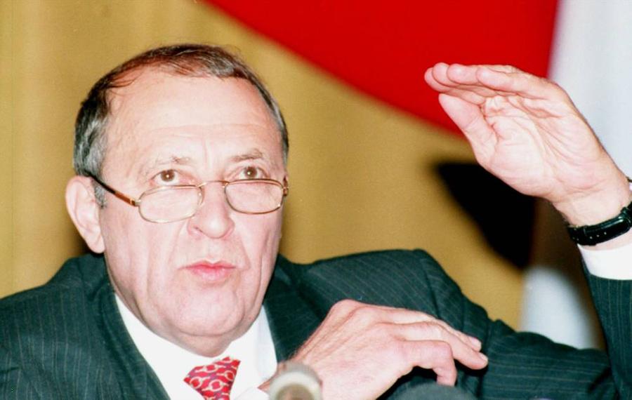Глава Роскомдрагмета России Евгений Бычков (90-е годы). Фото © ТАСС / Валентин Кузьмин voiceofmoscow