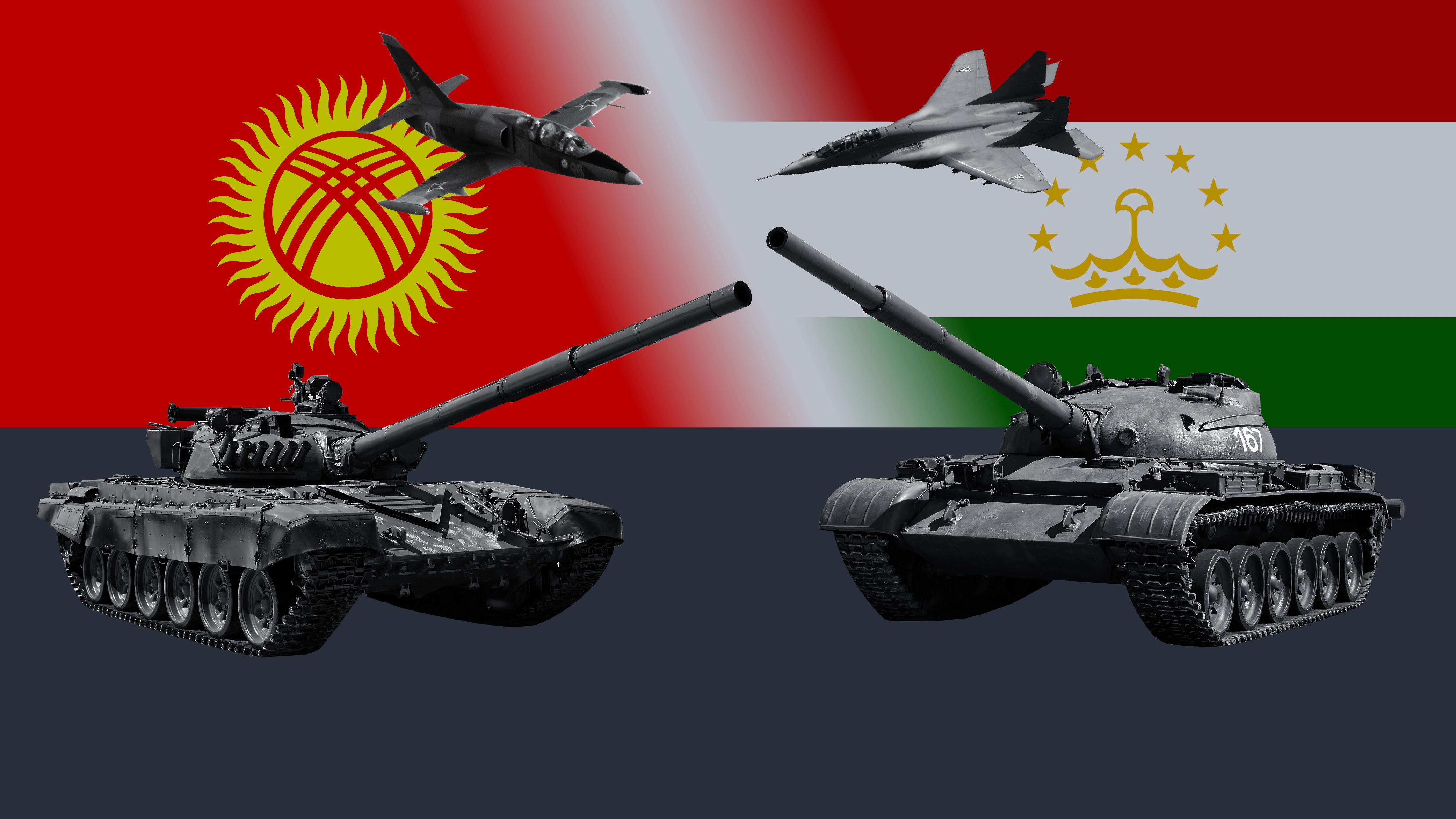 Война камнями и палками: сравниваем армии Киргизии и Таджикистана