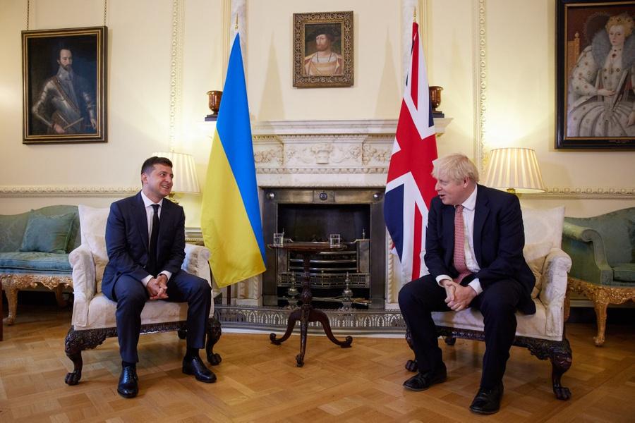 <p>Владимир Зеленский и Борис Джонсон. Фото © Офис президента Украины</p>